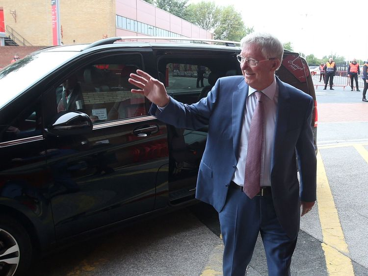Sir Alex returns to Old Trafford. Pic: MUFC