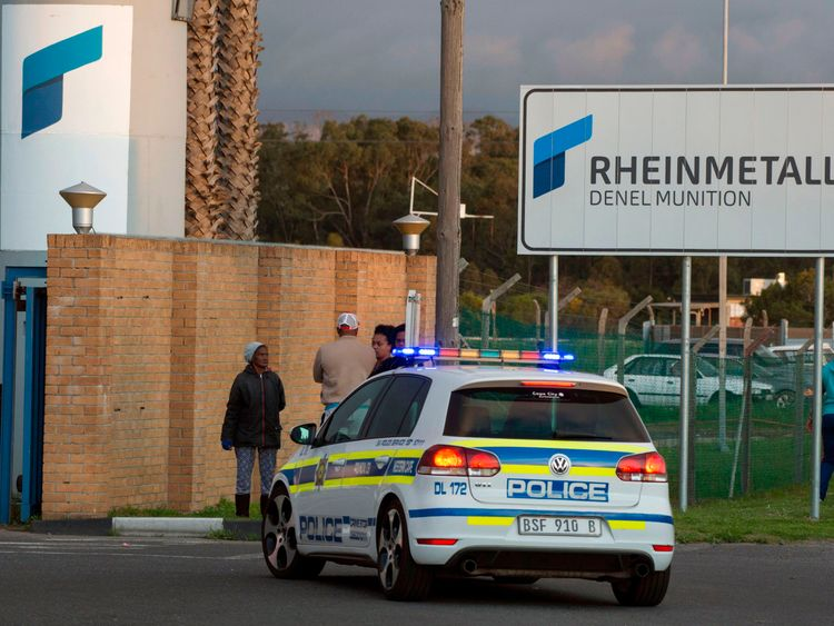 Eight killed in blast at South African munitions depot
