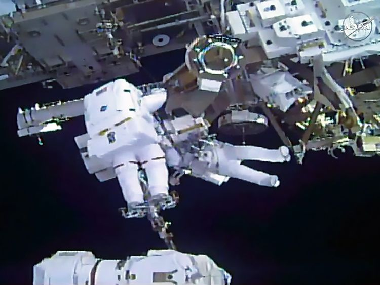 The International Space Station could be damaged by debris