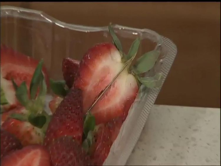 Australian woman spiked strawberries with needles 'out of
