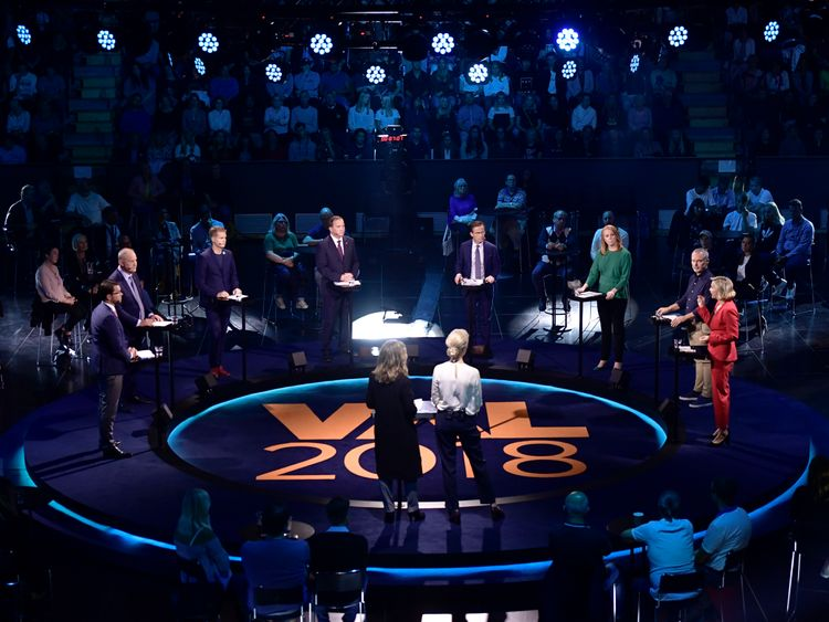 Sweden election debate