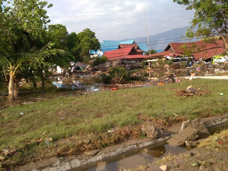 The aftermath of the tsunami in Palu