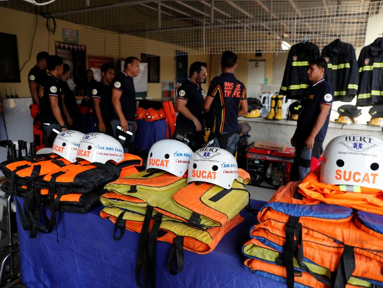 Rescuers on the island of Luzon are ready for the super typhoon's arrival