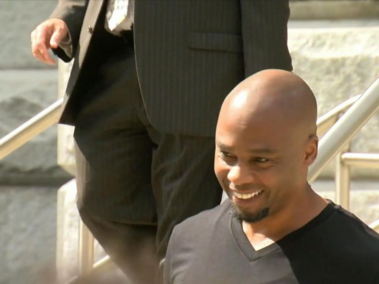 Valentino Dixon has been freed after serving 27 years in jail for a murder he did not commit. Pic: ABC