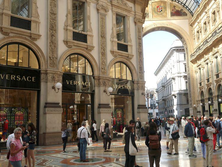 Versace's flagship shop is in Galleria Vittorio Emanuele II in Milan