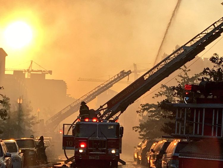 Firefighters called this blaze a severe challenge