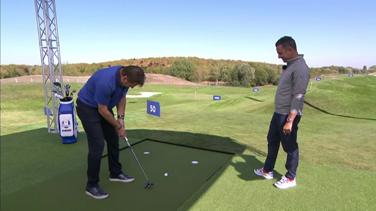 Nick Faldo Recreates His Famous Putt From The 1995 Ryder