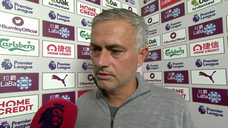 Mourinho's smile returns after Burnley win