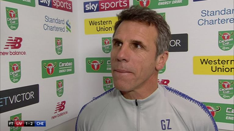 1:53                                               Chelsea assistant boss Gianfranco Zola believes goalscorer Eden Hazard is one of the best players in the world