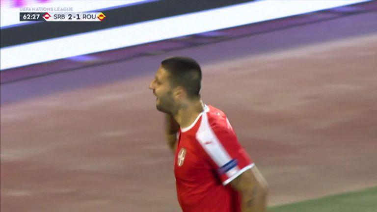 Aleksandar Mitrovic scored a fine goal for Serbia against Romania