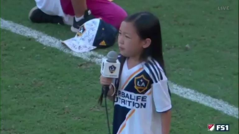7-year-old prodigy belts out US national anthem, and it's everything!