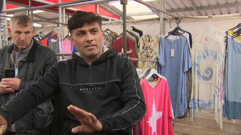 Shopkeeper Abdul Razzaq describes the moment he stood between the knife-wielding woman and some shoppers
