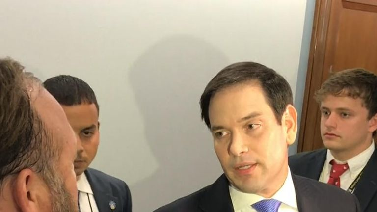 Alex Jones and Marco Rubio clash on Capitol Hill