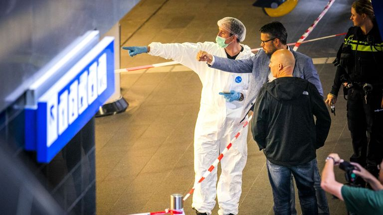 Forensic experts were on the scene after the attack on Friday