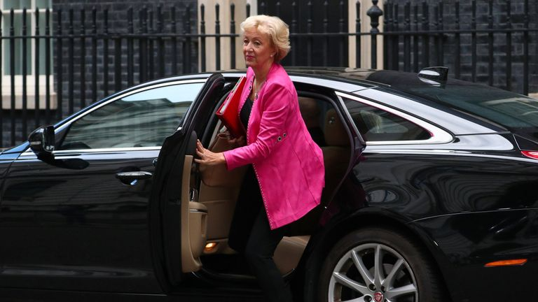 Leader of the House of Commons Andrea Leadsom arrives in Downing Street