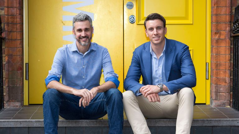 Hometree was founded by Andreu Tobella (l) and Simon Phelan