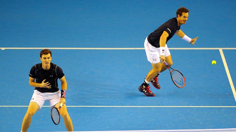 Andy and Jamie Murray have played doubles together in the Davis Cup on multiple occasions