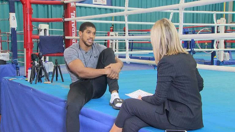 Jacquie Beltrao interview with Anthony Joshua