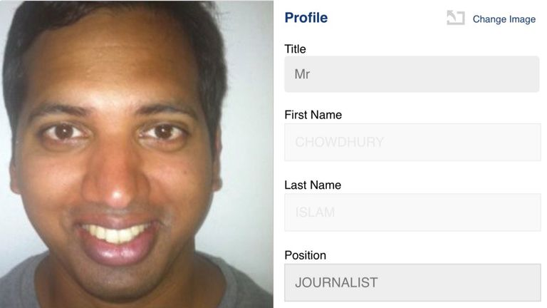 It also was possible to change the photos of journalists - including Sky's political editor