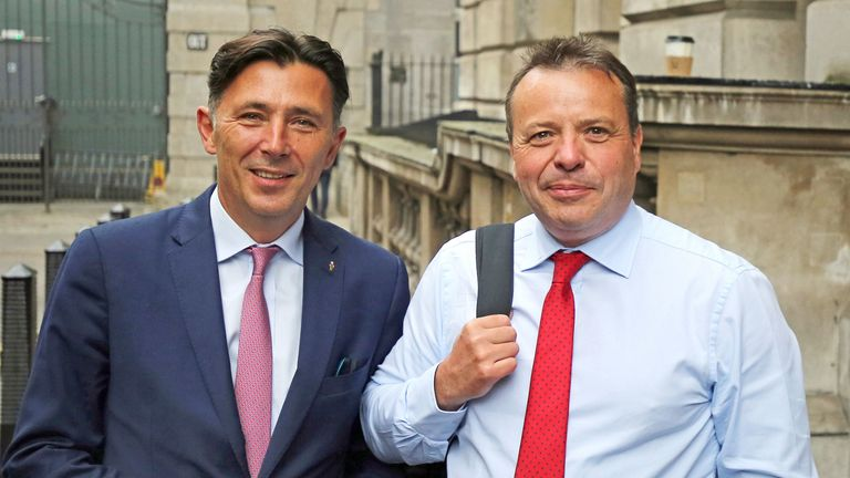 Arron Banks (R) and Andy Wigmore