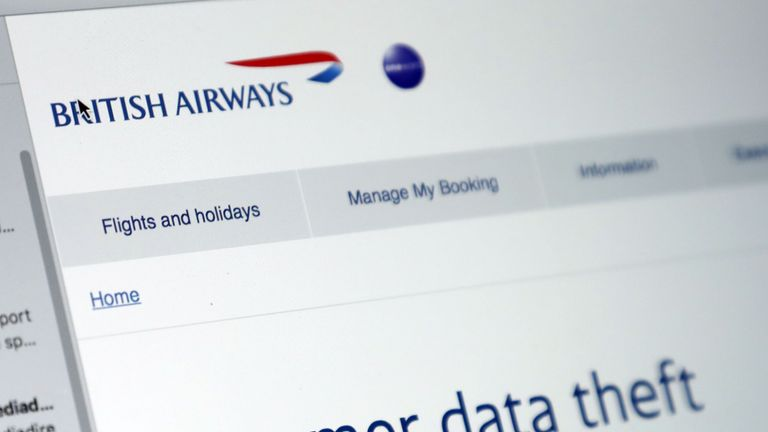 The email sent to British Airways customers after a company data breach