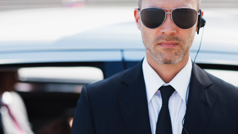 Not every bodyguard is a man in a suit and shades...
