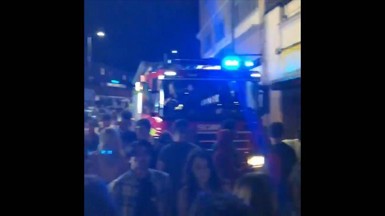 Firefighters were called to the scene in Bournemouth