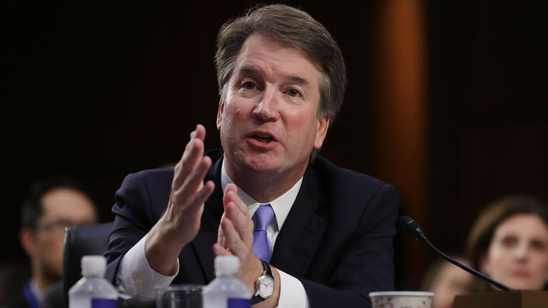 Brett Kavanaugh has said he is happy to appear before a Senate panel hearing