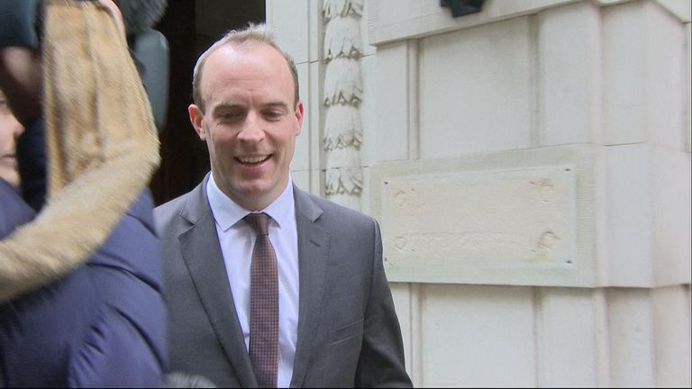 Brexit Secretary Dominic Raab was asked whether Theresa May's treatment in Salzburg was an ambush, to which he replied, 'Yes'.