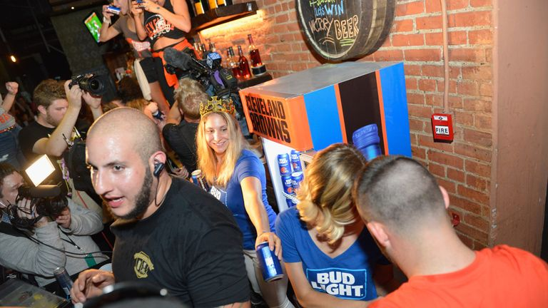 Bud Light Cleveland Browns Victory Fridges unlock across the city as the Browns earn first win since 2016
