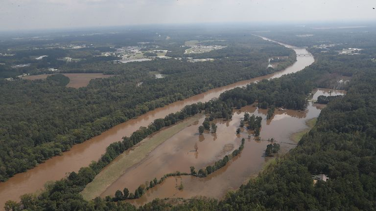 Much of the Cape Fear River has been flooded by Florence