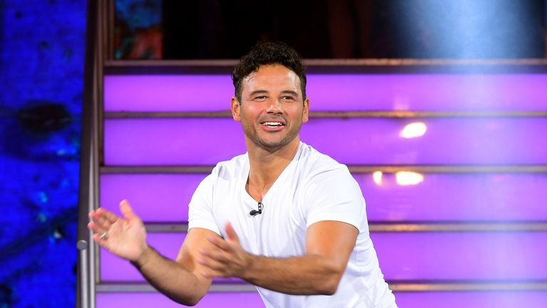 Winner Ryan Thomas leaves the Celebrity Big Brother house. Pic: Ian West/PA Wire