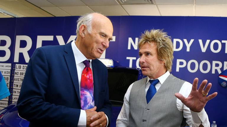 Charlie Mullins and Sir Vince Cable