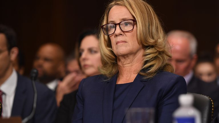 Christine Blasey Ford, the woman accusing Supreme Court nominee Brett Kavanaugh of sexually assaulting her at a party 36 years ago