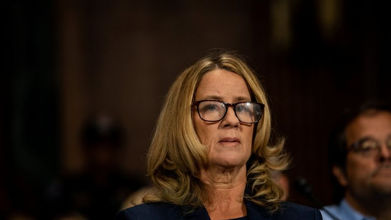 Christine Blasey Ford testifies about sexual assault allegations against Supreme Court nominee Judge Brett M. Kavanaugh