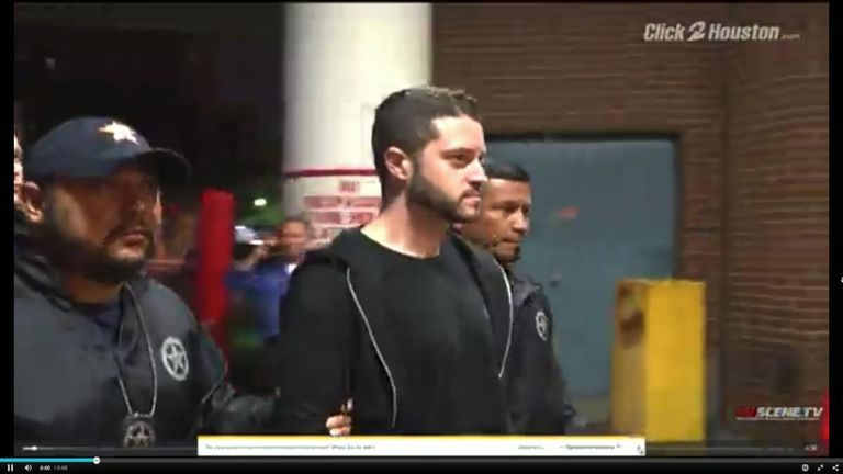 Cody Wilson was arrested when he arrived in Houston. Pic: Click2Houston