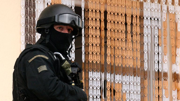 Greek police were supported by officers from the NCA (file pic)
