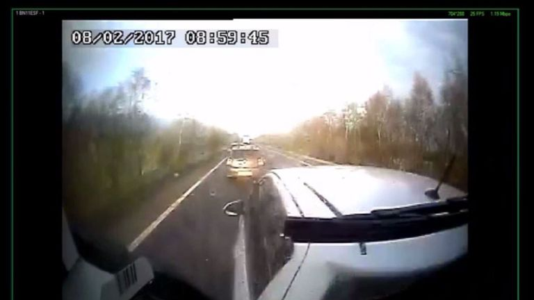 Lorry Driver Filmed Checking Phone Before Fatal Crash Is Jailed For