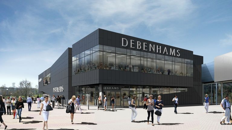 Debenhams has 240 stores across 27 countries. Pic: Debenhams