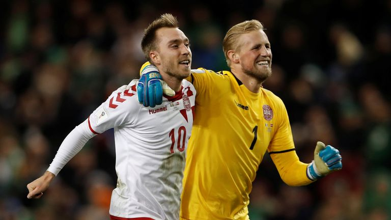 Christian Eriksen and Kasper Schmeichel set to miss Wales clash