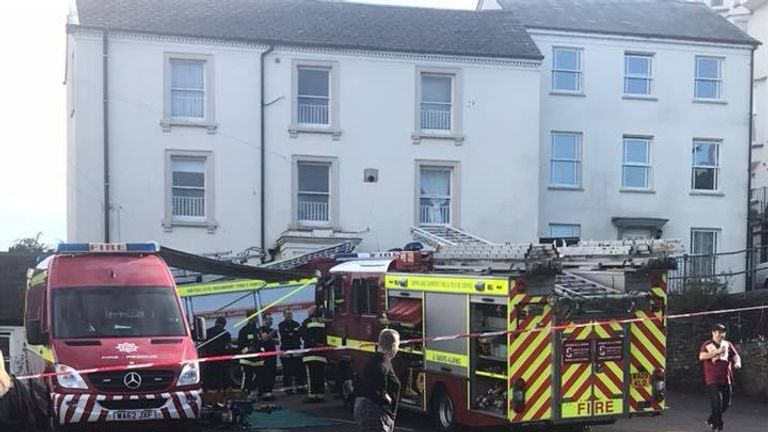 Emergency services at the scene. Pic: Col Harris