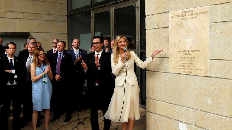 Ivanka Trump and US Treasury secretary Steven Mnuchin opened the new US Embassy in Jerusalem in May