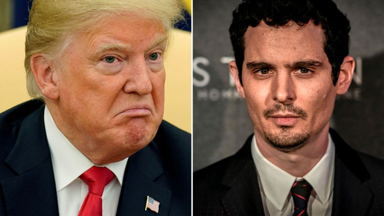 Donald Trump has criticised Damien Chazelle's new Neil Armstrong biopic First Man