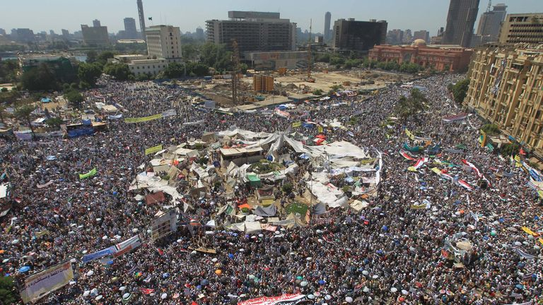 Tahrir Square in Cairo was the centre of many of the key protests during the Arab Spring