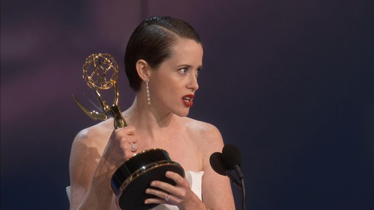 Claire Foy won for The Crown