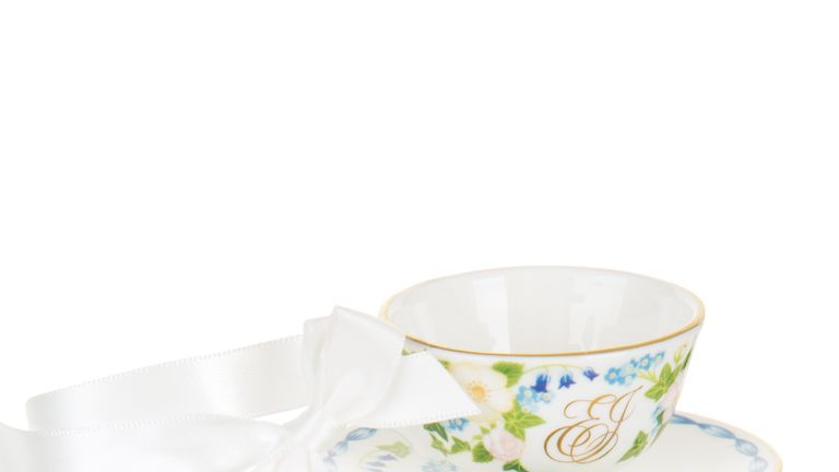 A miniature teacup and saucer from the collection is priced at £25.00. Pic: Royal Collection Trust/ Her Majesty Queen