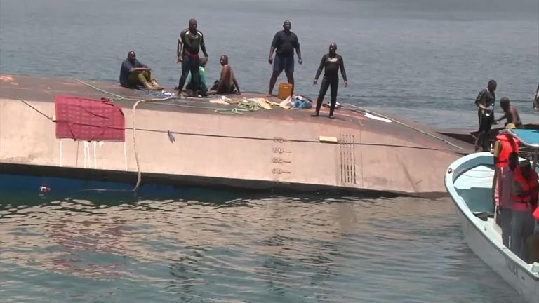 Ferry capsizes killing more than 200