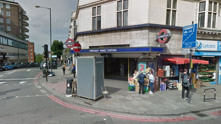 The incident happened near Finchley Road station. Pic: Google Street View