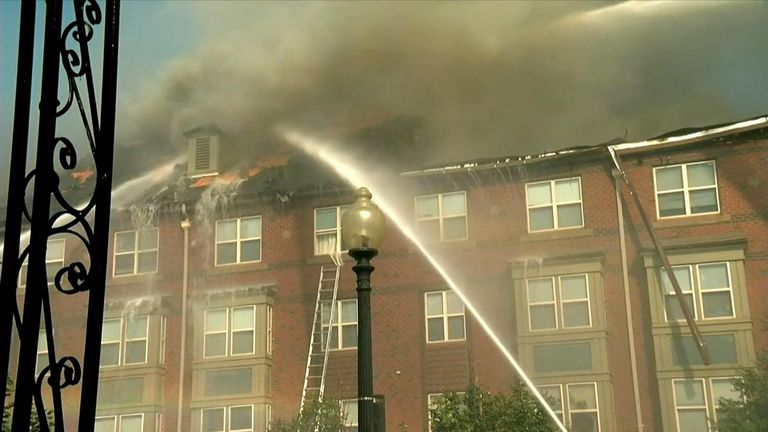 Firefighters from numerous companies fought the fire. Pic: ABC