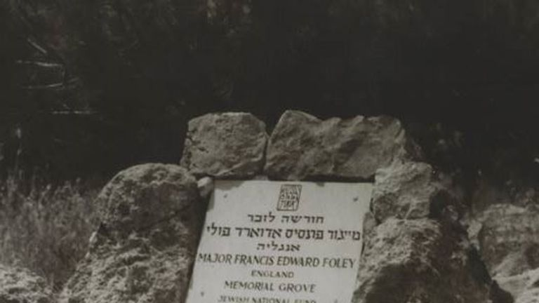Major Francis Foley has a grave in Israel